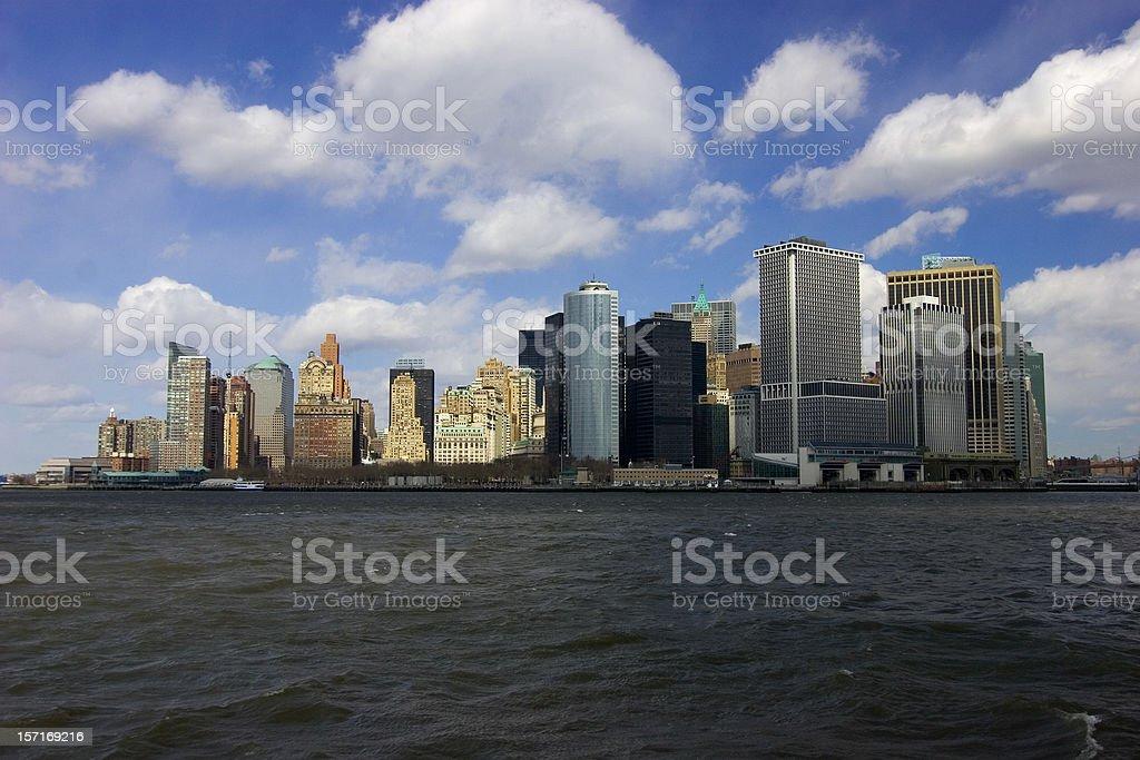 Downtown New York Skyline royalty-free stock photo