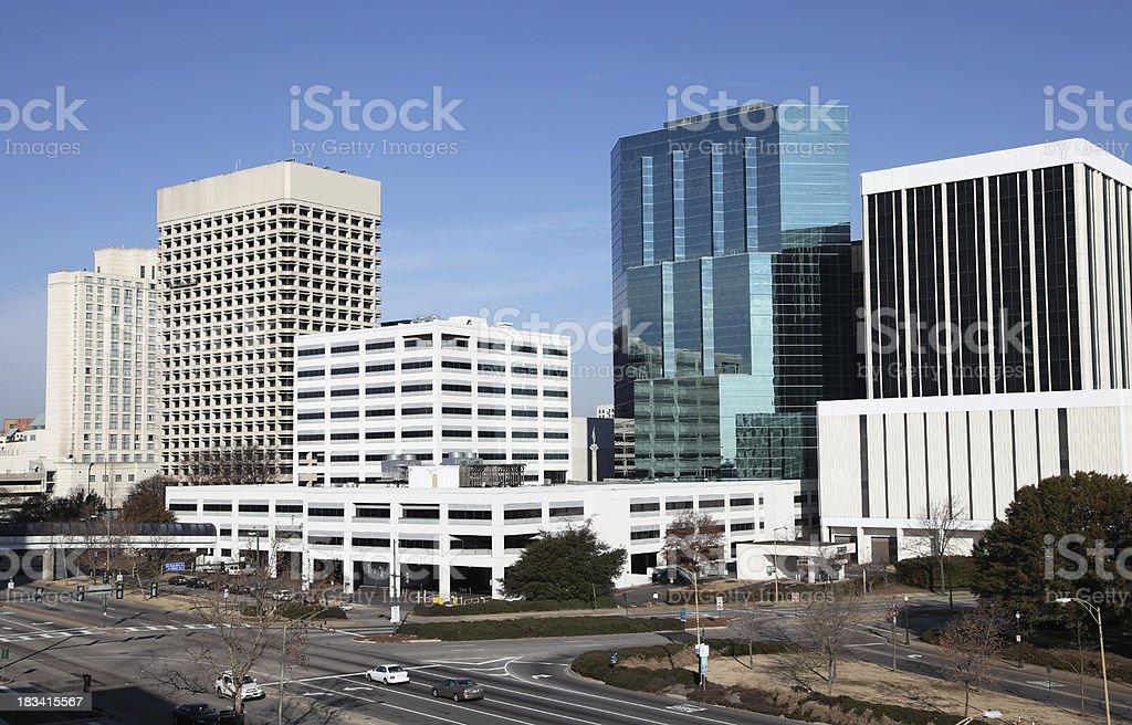 Downtown Norfolk stock photo