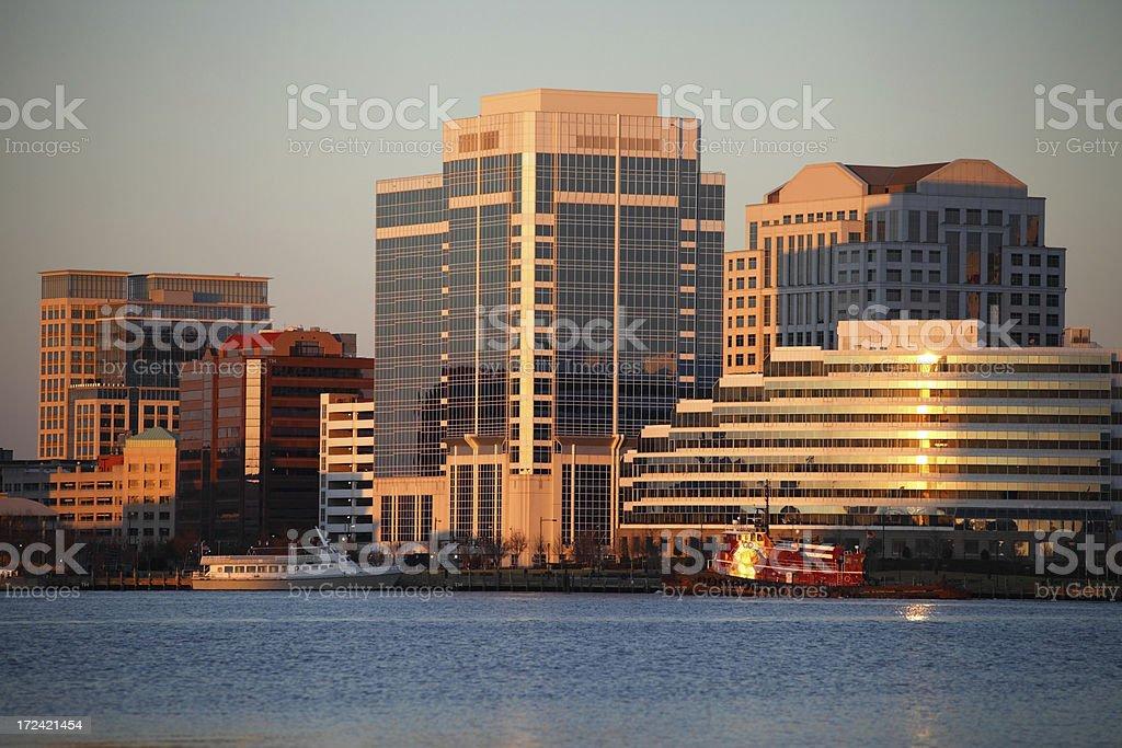 Downtown Norfolk, Virginia royalty-free stock photo