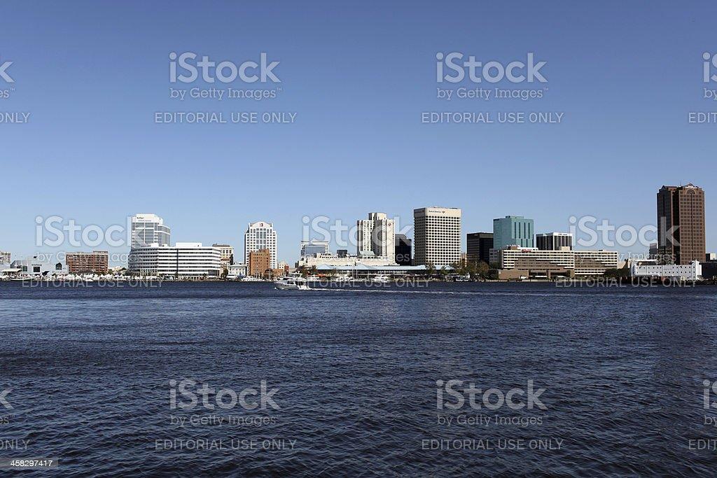 Downtown Norfolk, Virginia. royalty-free stock photo
