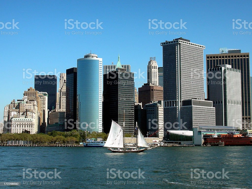 Downtown NYC royalty-free stock photo