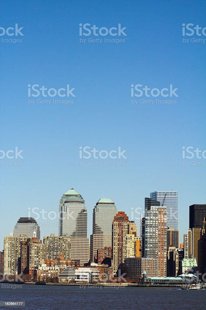 Downtown NYC Skyline royalty-free stock photo