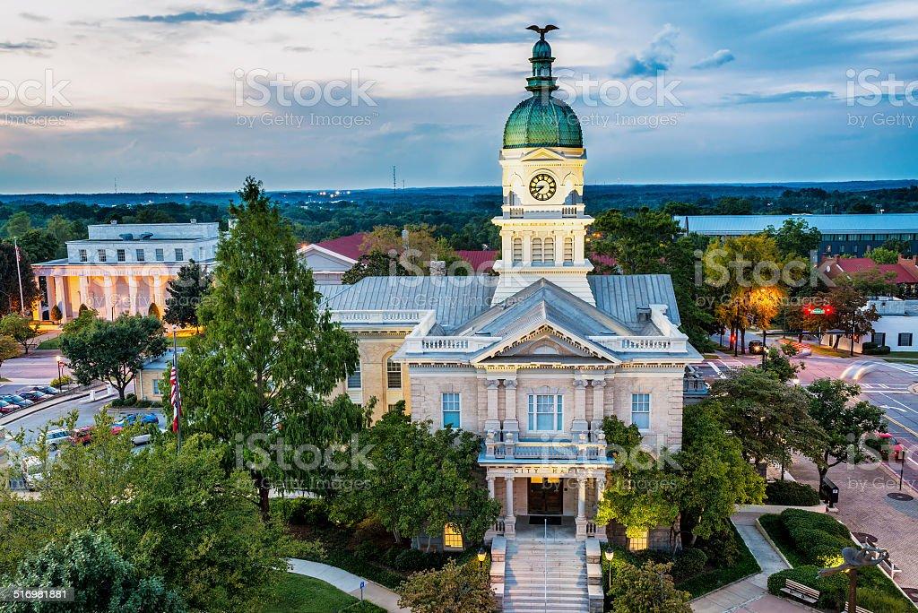 Downtown of Athens, Georgia, USA stock photo