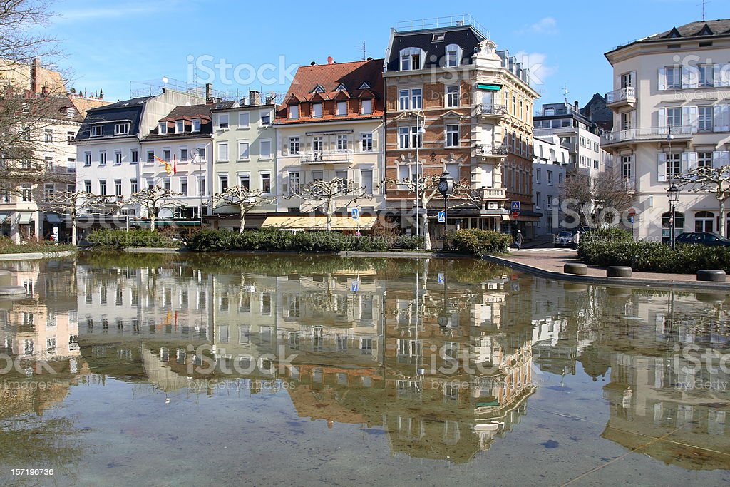 Downtown of Baden-Baden royalty-free stock photo
