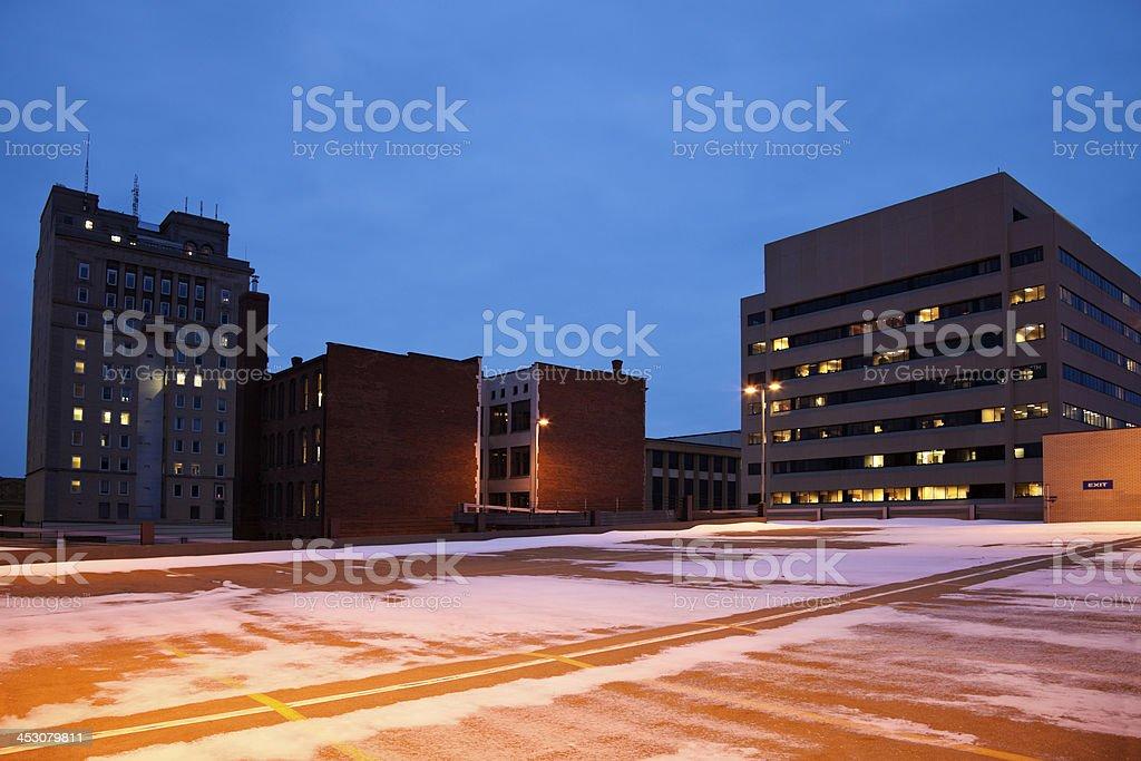 Downtown of Canton, Ohio stock photo