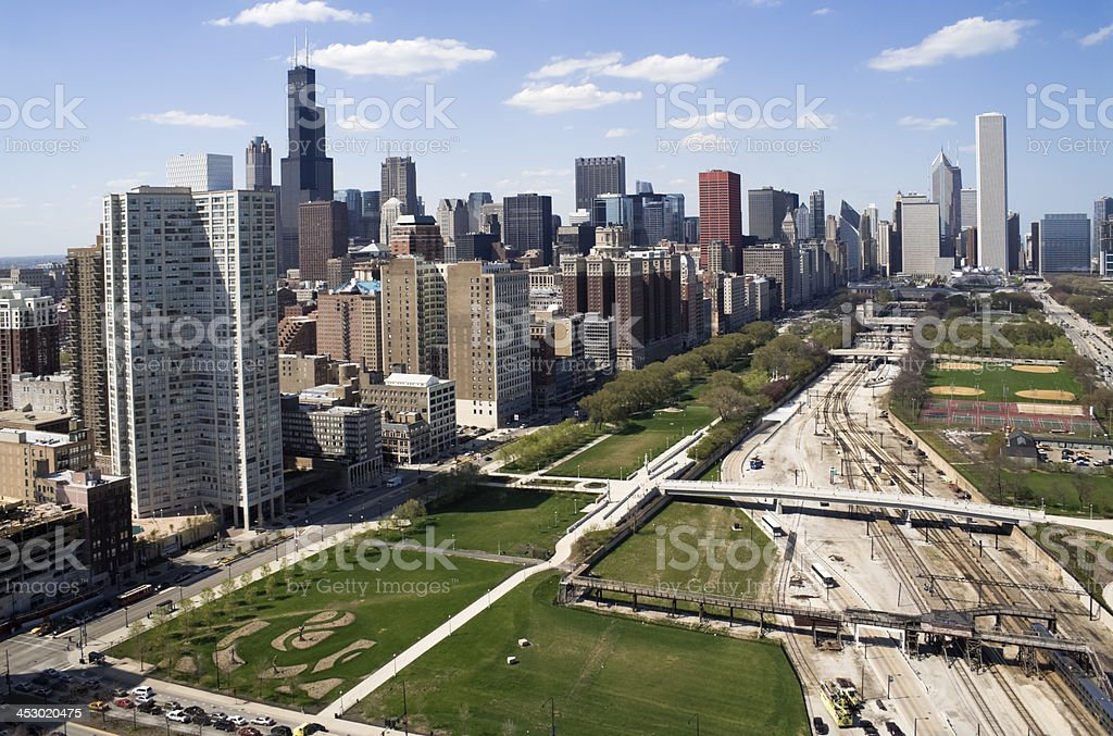 Downtown of Chicago stock photo