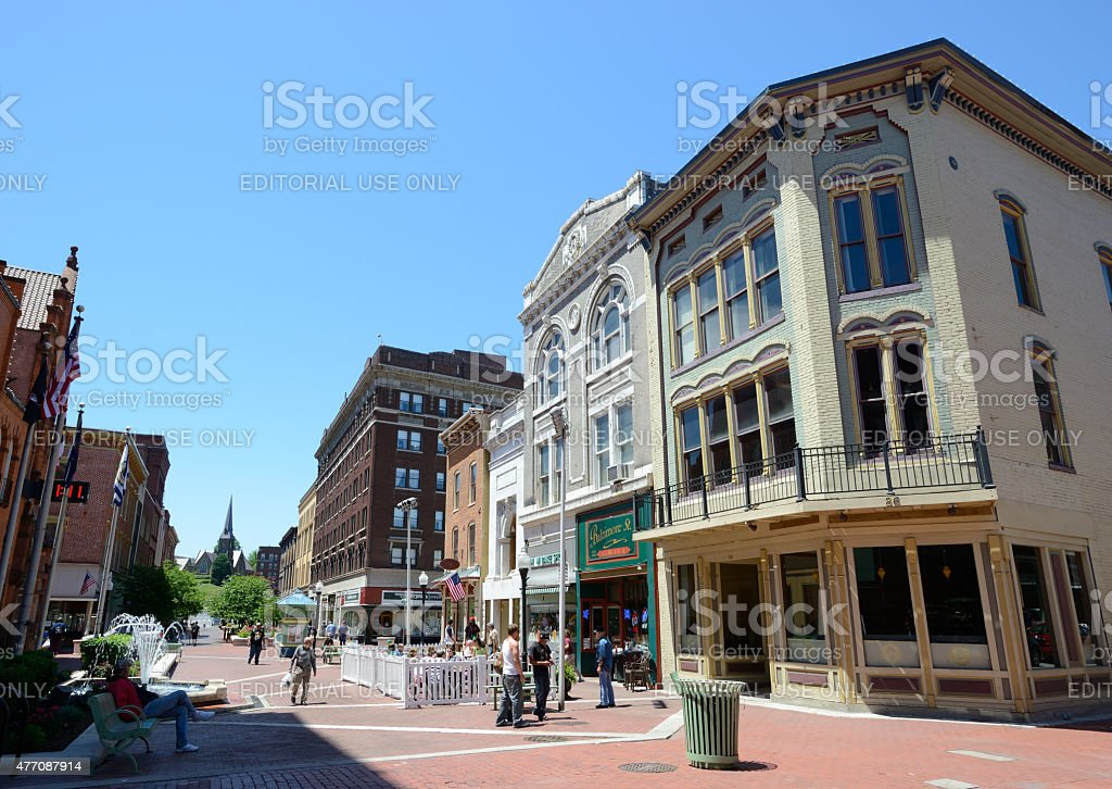 Downtown of Cumberland MD stock photo
