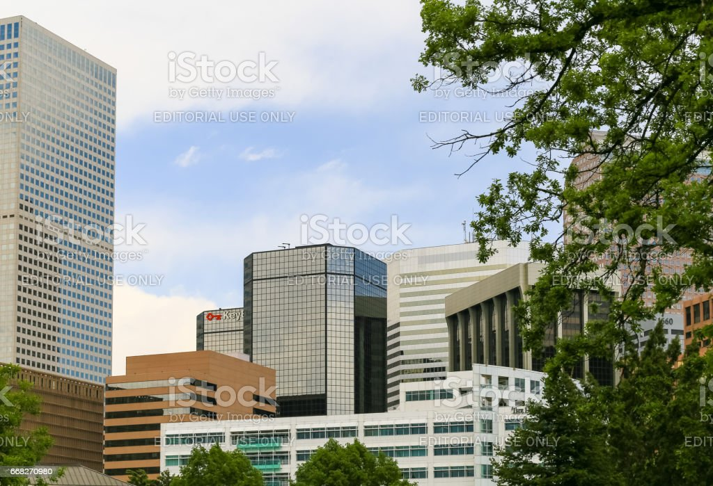 Downtown of Denver stock photo