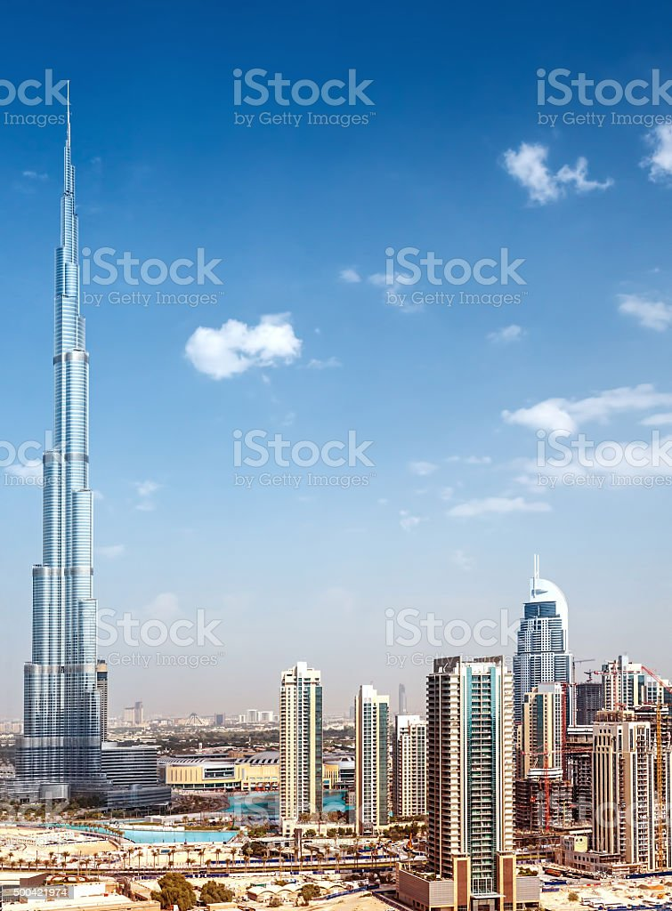 Downtown of Dubai stock photo