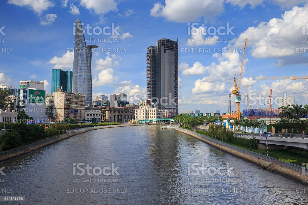 Downtown of Ho Chi Minh city royalty-free stock photo