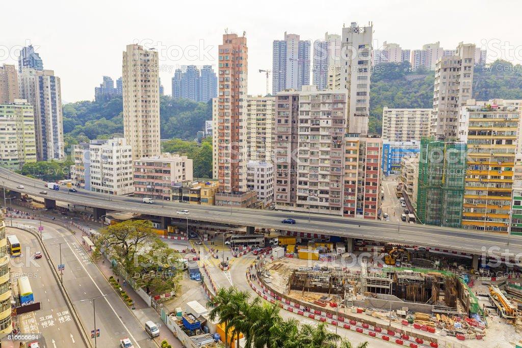 Downtown of Hong Kong stock photo