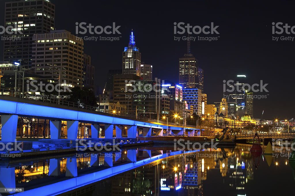 Downtown of Melbourne royalty-free stock photo