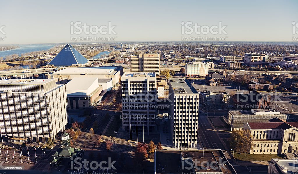 Downtown of Memphis stock photo