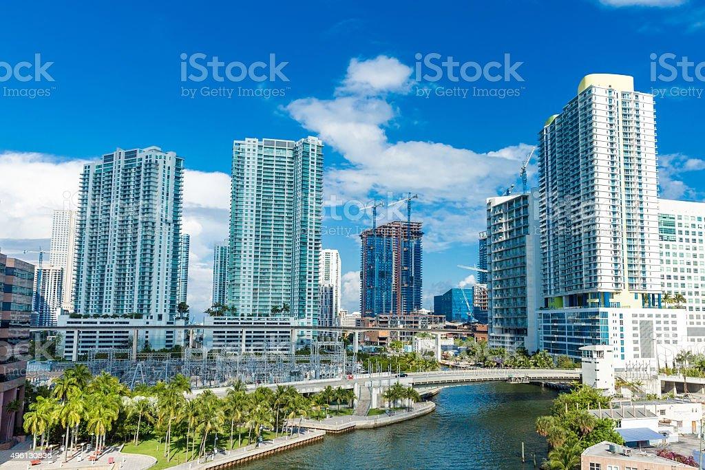 Downtown of Miami, Florida, USA stock photo
