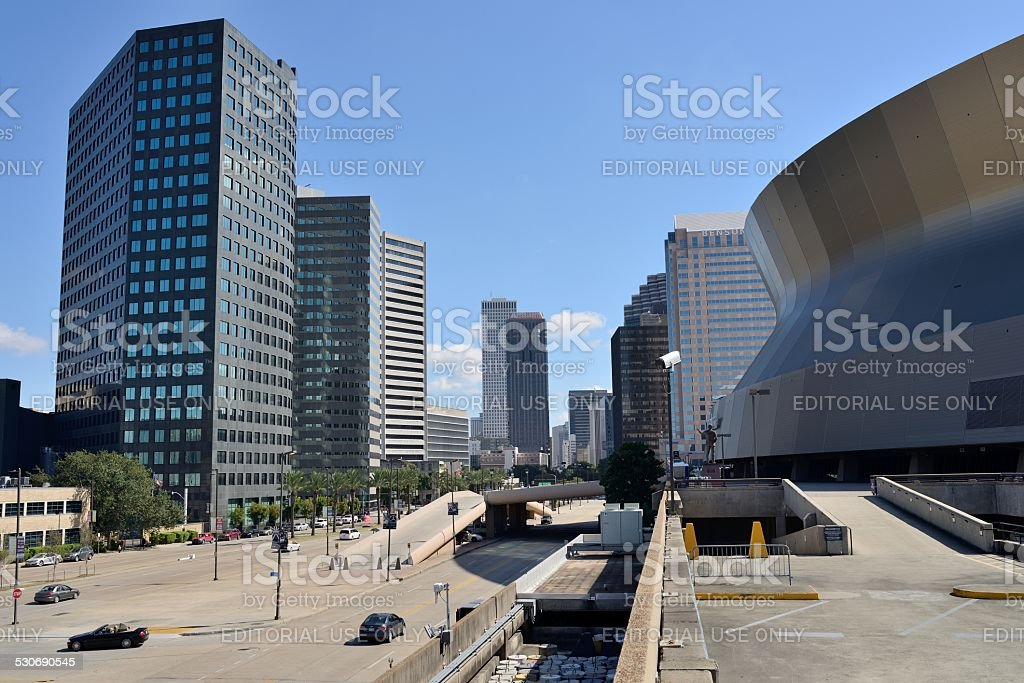 Downtown of New Orleans stock photo