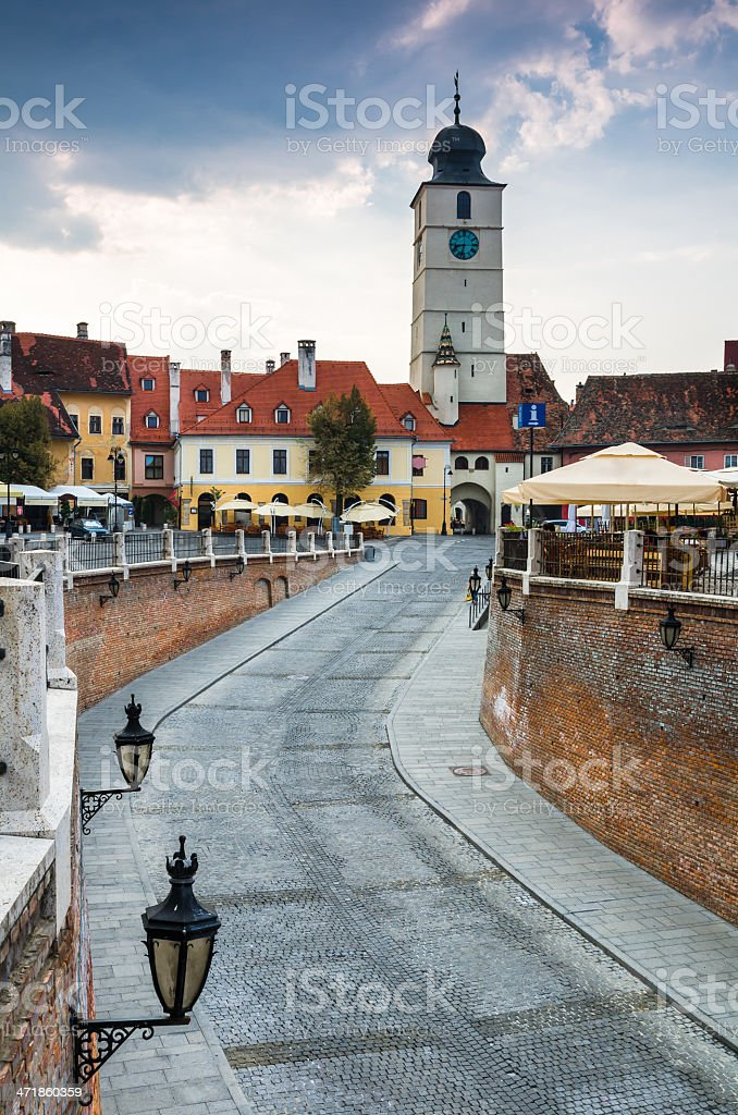 Downtown of Sibiu, Transylvania royalty-free stock photo