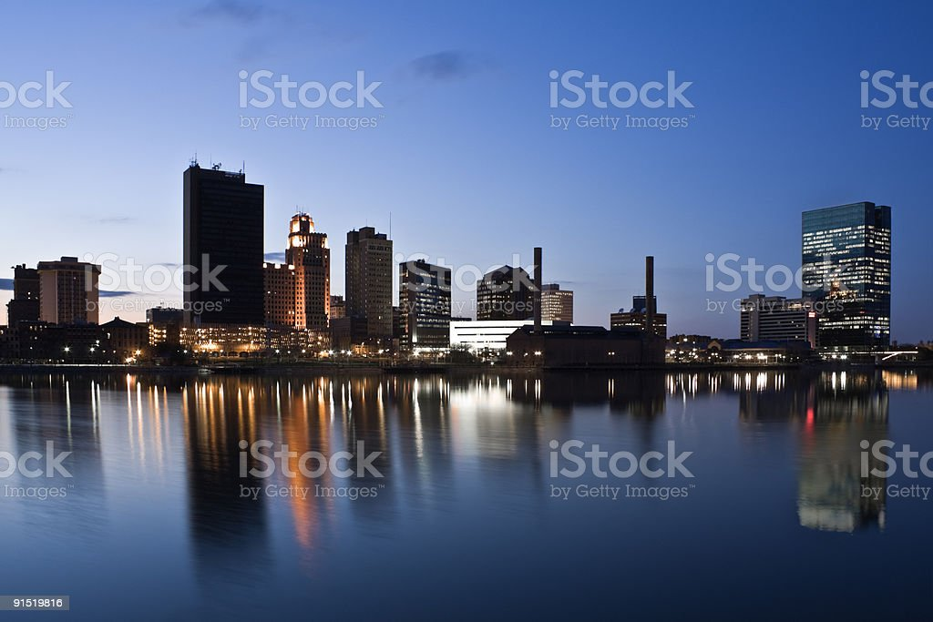 Downtown of Toledo stock photo