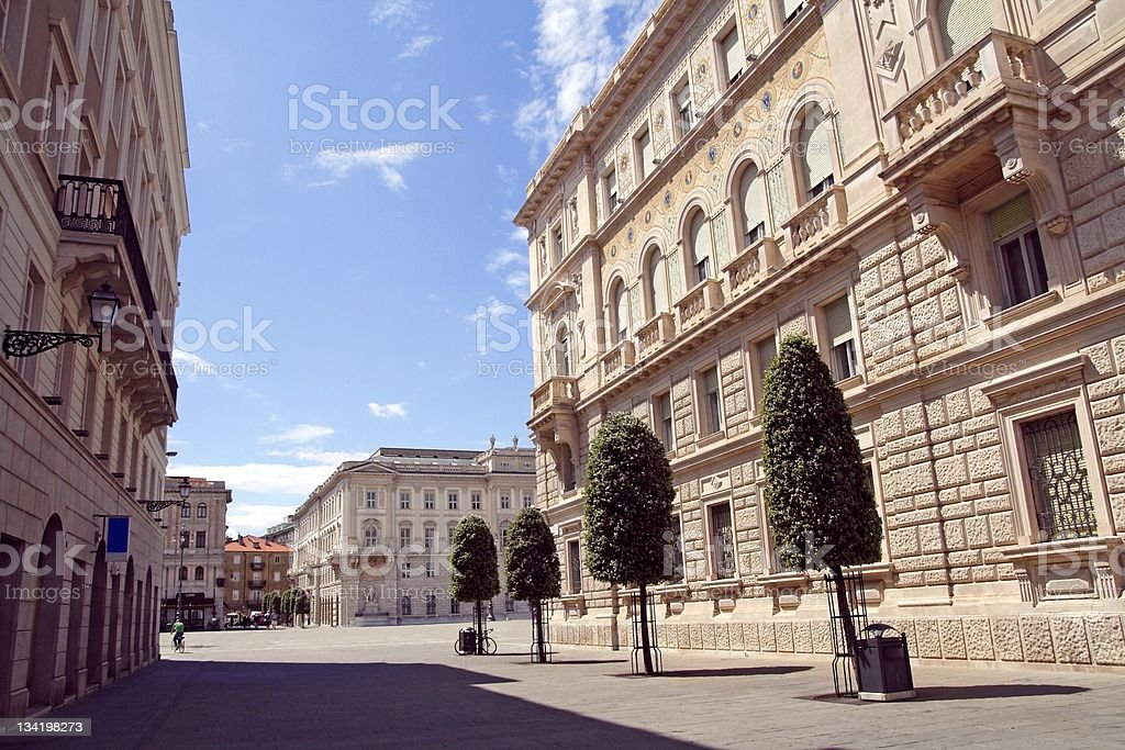 Downtown of Triest royalty-free stock photo