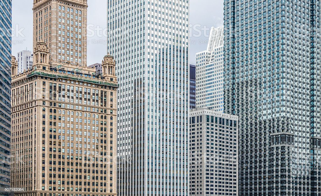 Downtown office buildings corporate world business stock photo