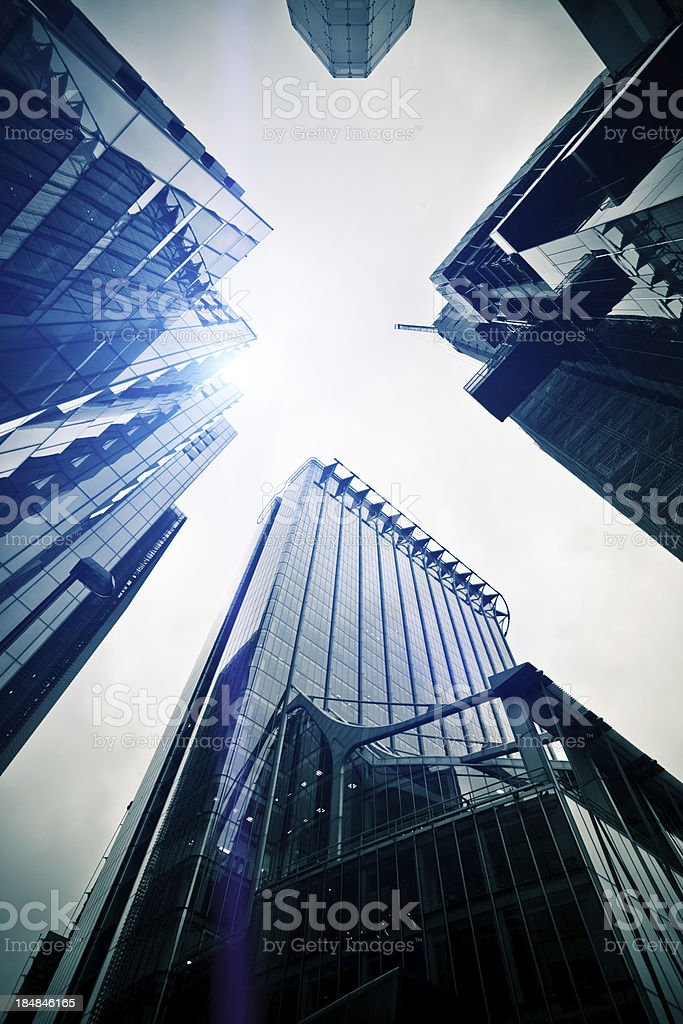 Downtown Office Buildings Skyscrapers royalty-free stock photo