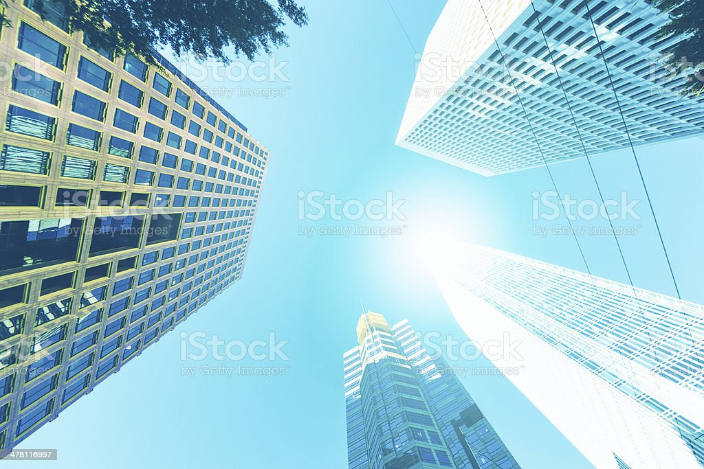 Downtown, Office Glass Skyscrapers royalty-free stock photo
