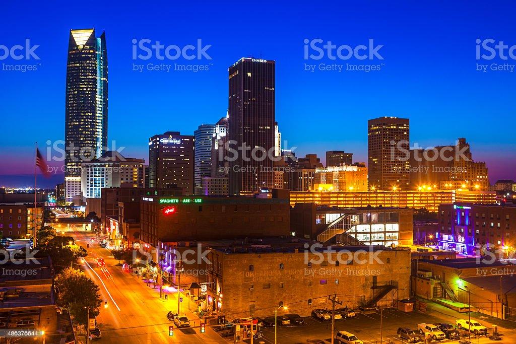 Downtown Oklahoma City, Oklahoma stock photo