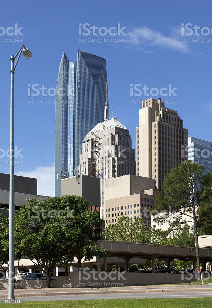 Downtown Oklahoma City royalty-free stock photo