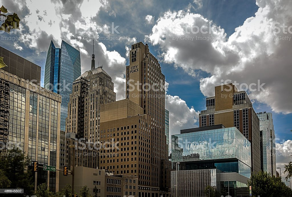 Downtown Oklahoma City Street Level stock photo