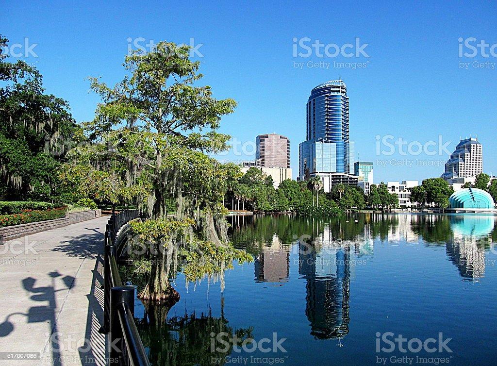 Downtown Orlando Florida stock photo