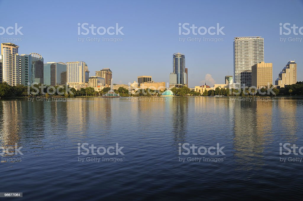 Downtown Orlando Skyline royalty-free stock photo