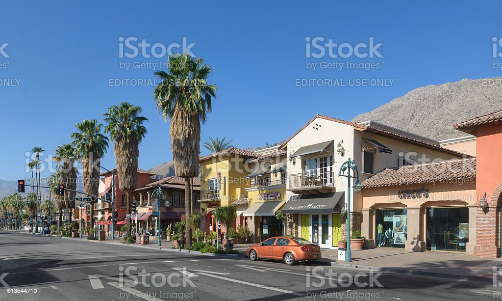 Downtown Palm Springs stock photo