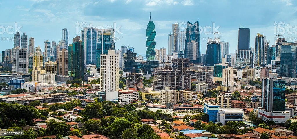 Downtown Panama City Skyscrapers, Panama stock photo