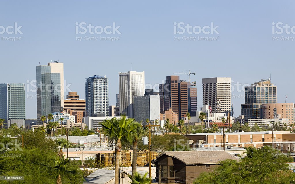 Downtown part of Phoenix city in Arizona royalty-free stock photo