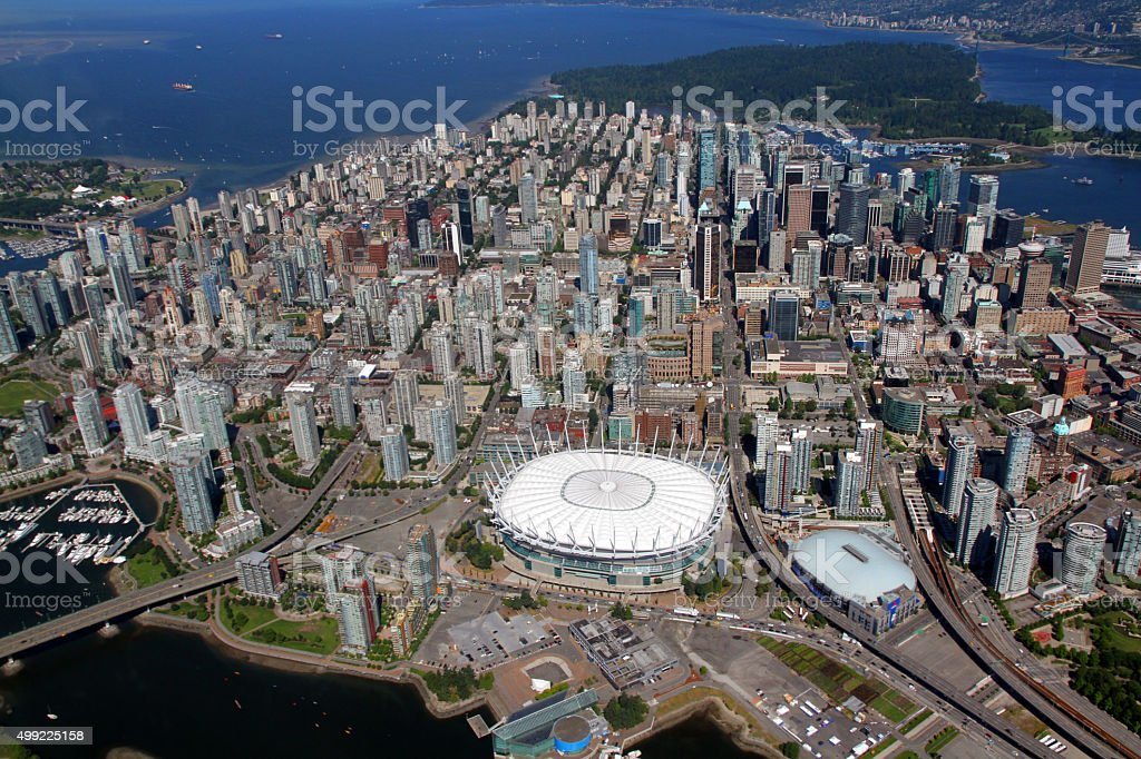Downtown Peninsula stock photo