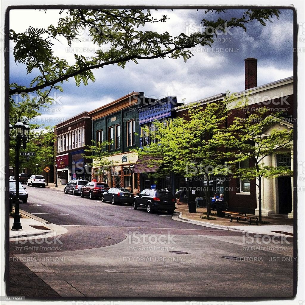 Downtown Petoskey royalty-free stock photo
