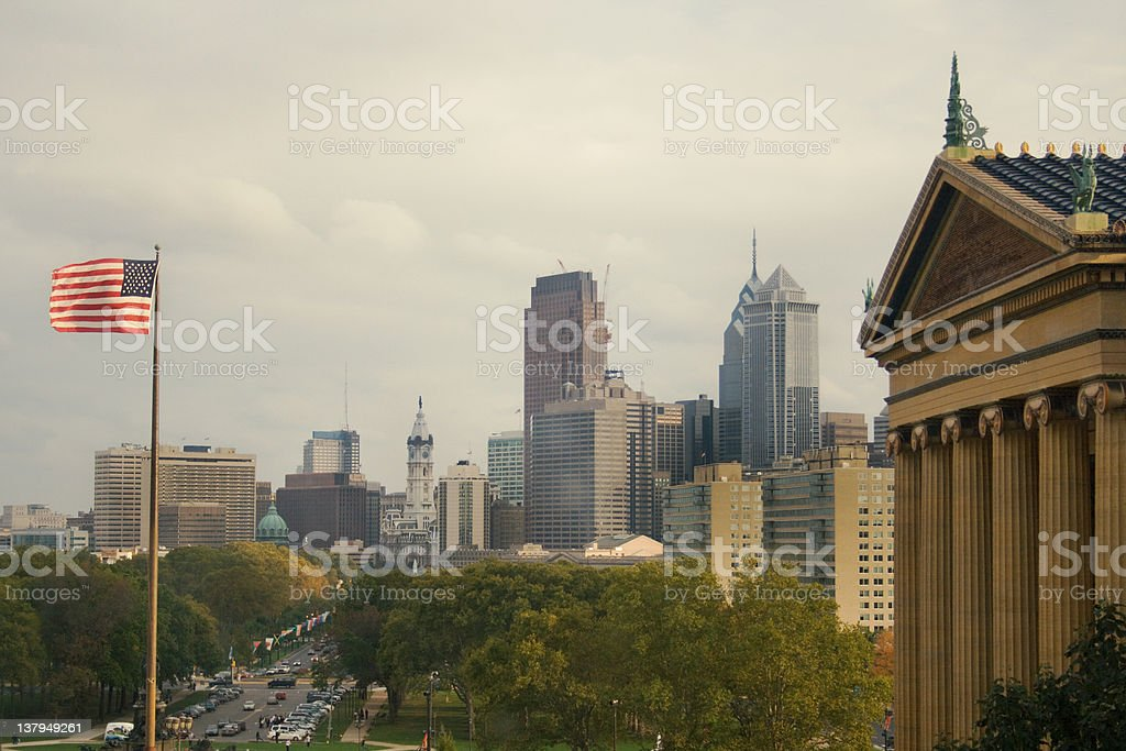 Downtown Philadelphia stock photo