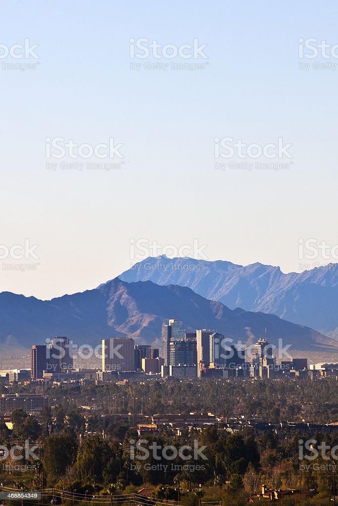 Downtown Phoenix, Arizona Skyline stock photo