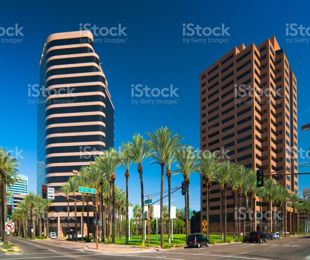 Downtown Phoenix buildings royalty-free stock photo