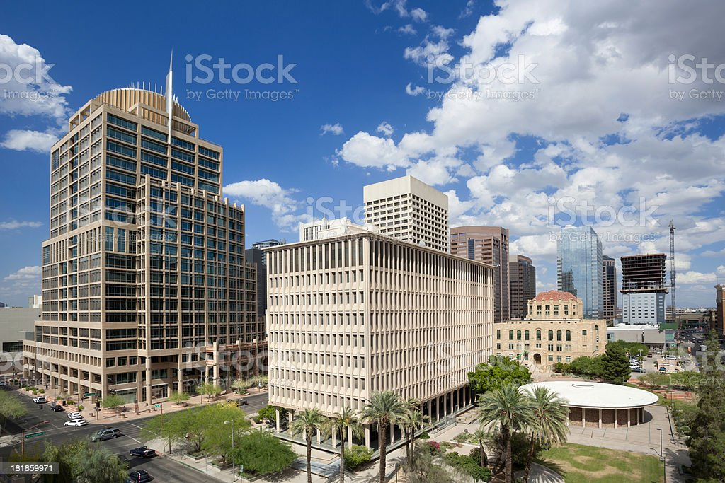 Downtown Phoenix royalty-free stock photo