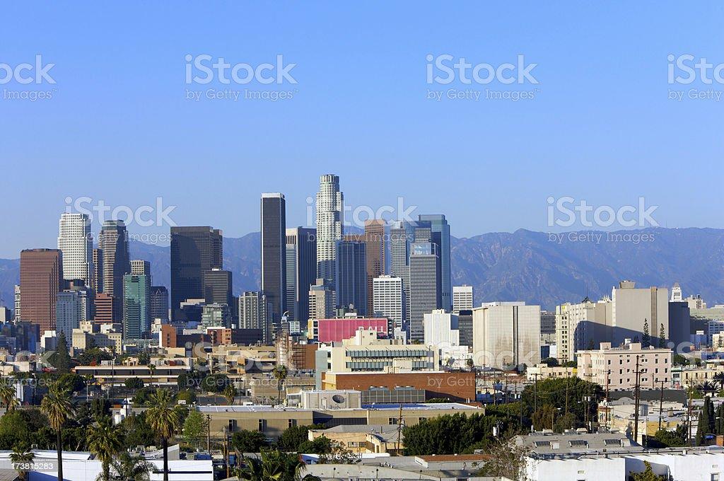 LA downtown stock photo
