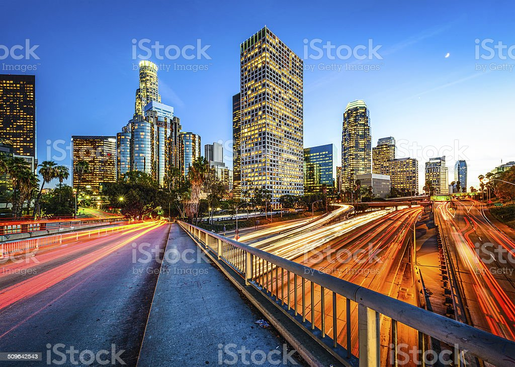 Downtown LA stock photo