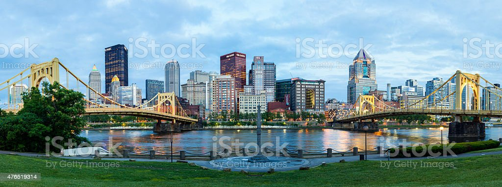 Downtown Pittsburgh, Pennsylvania stock photo