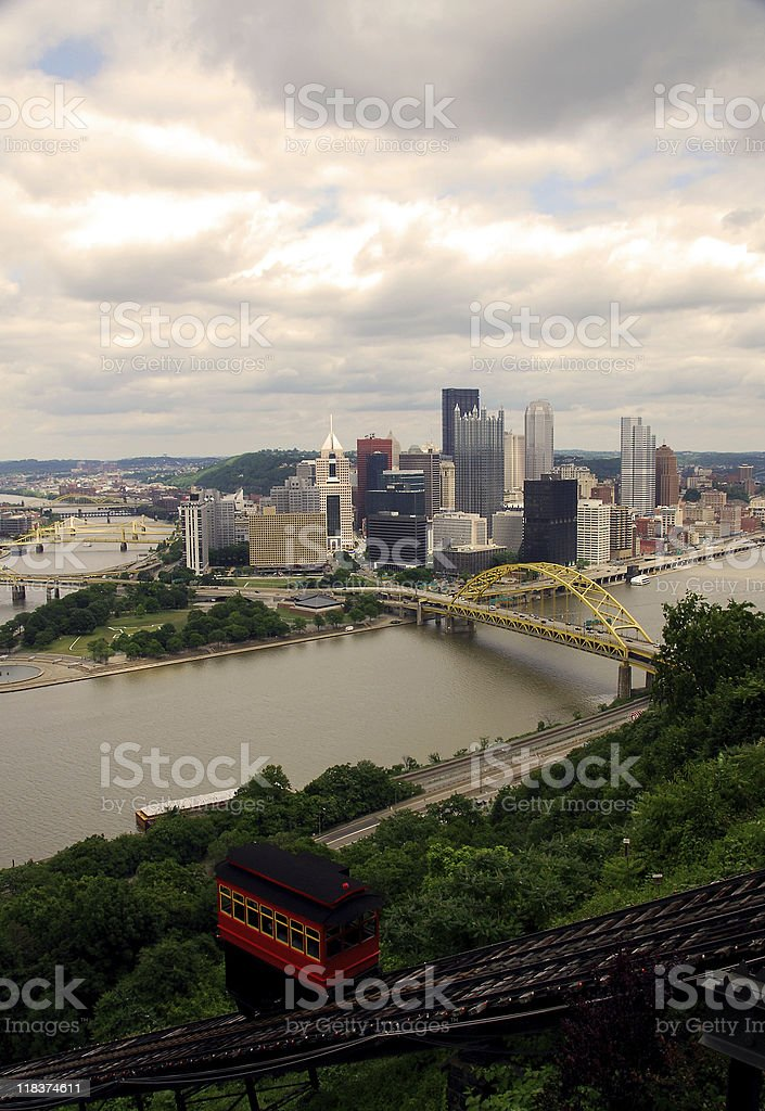 Downtown Pittsburgh stock photo