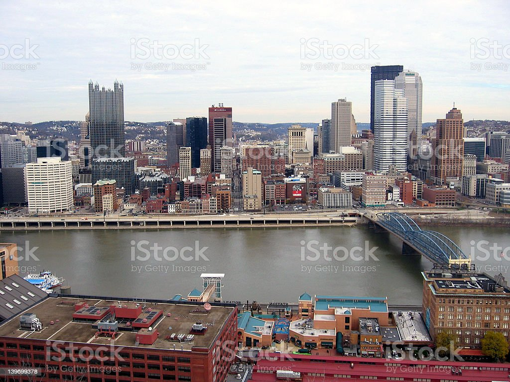 Downtown Pittsburgh royalty-free stock photo