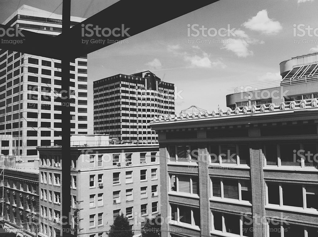 Downtown Portland City Architecture and Office Buildings royalty-free stock photo