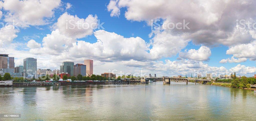 Downtown Portland cityscape stock photo