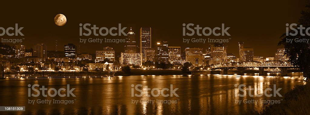 Downtown Portland royalty-free stock photo