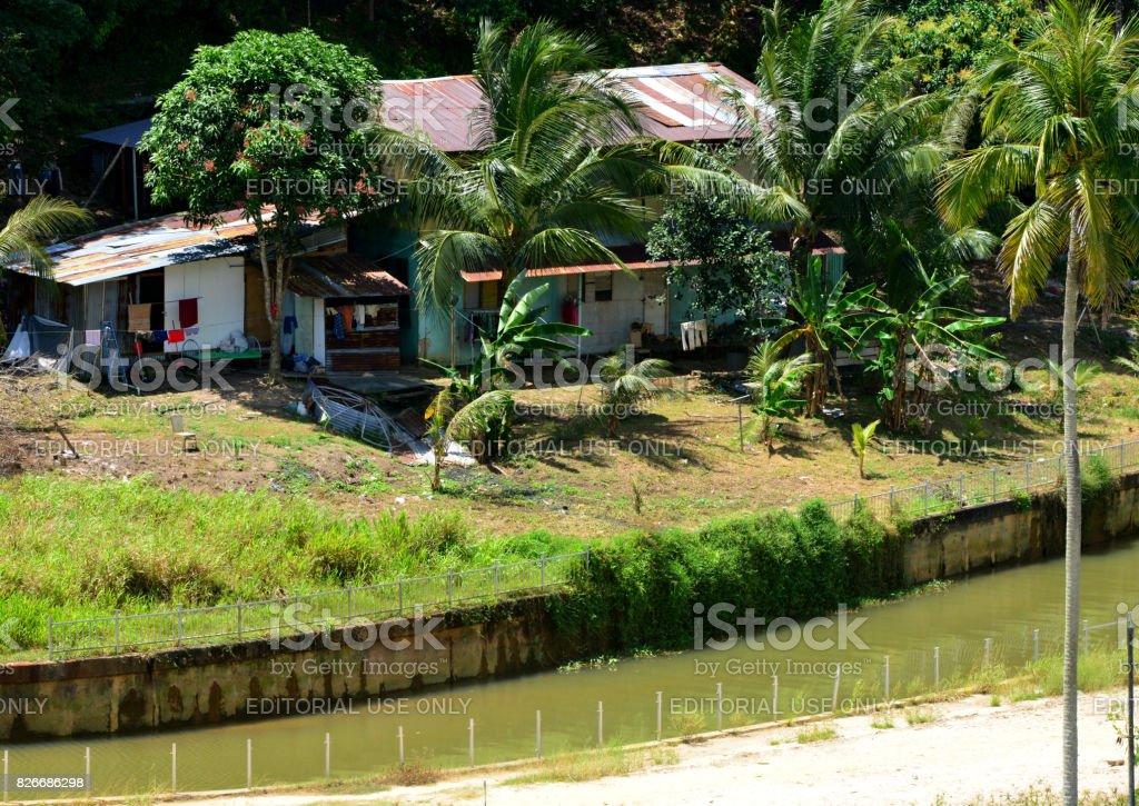 Downtown poverty, Bandar Seri Begawan, Brunei Darussala stock photo