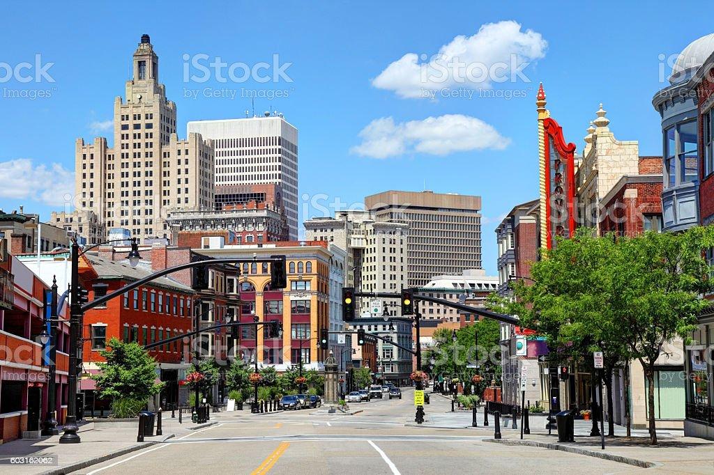 Downtown Providence Rhode Island stock photo
