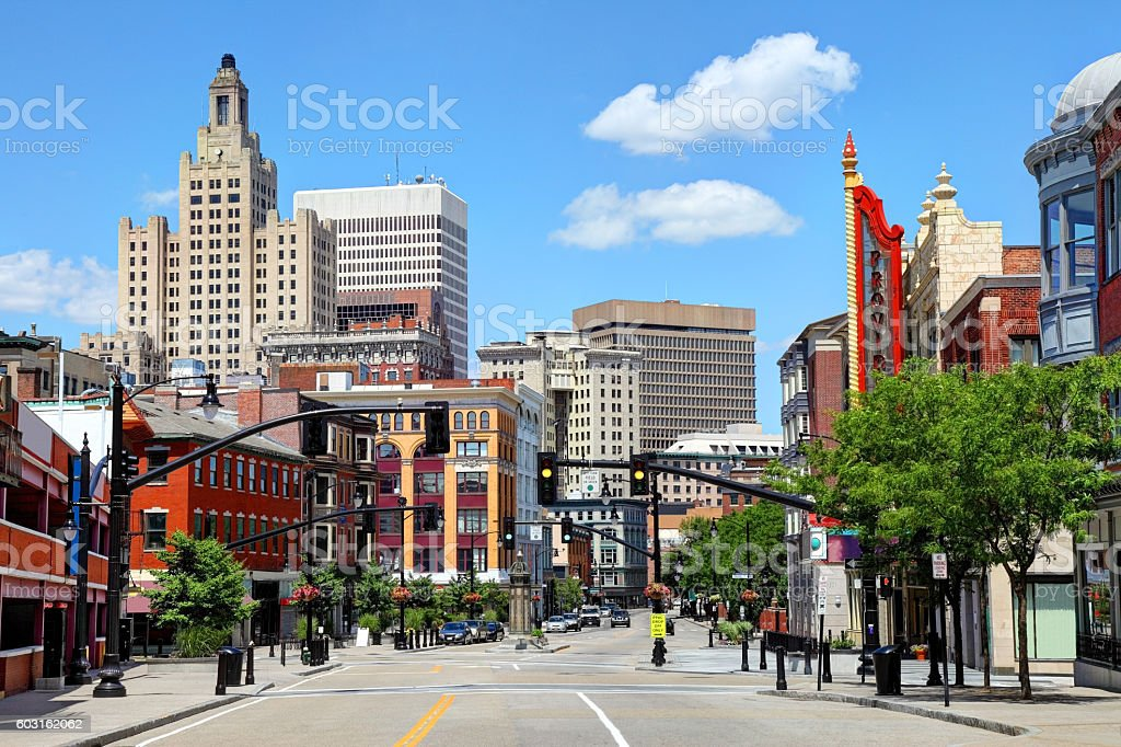 Downtown Providence Rhode Island stock photo